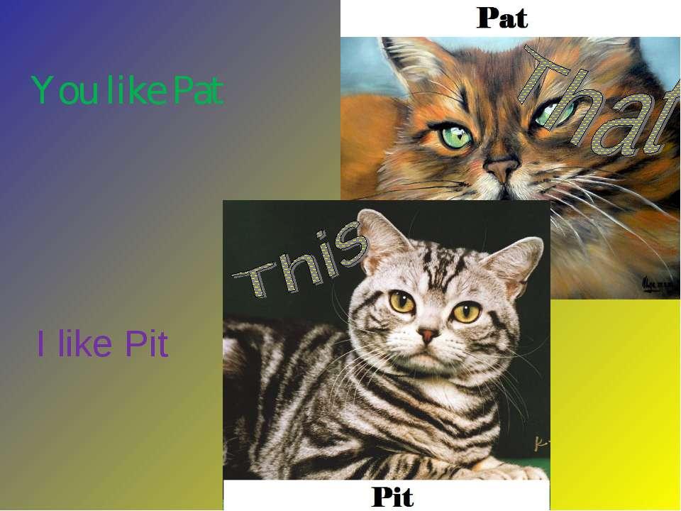 I like Pit You like Pat