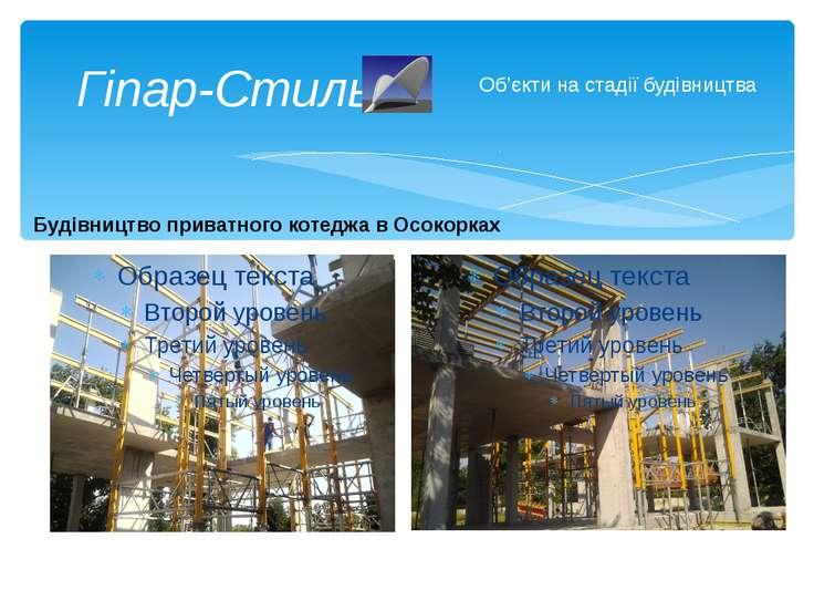 Гіпар-Стиль Об'єкти на стадії будівництва Будівництво приватного котеджа в Ос...