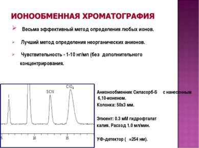 Весьма эффективный метод определения любых ионов. Лучший метод определения не...
