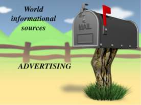 World informational sources. Advertising