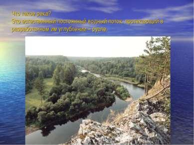 Что такое река? Это естественный постоянный водный поток, протекающий в разра...