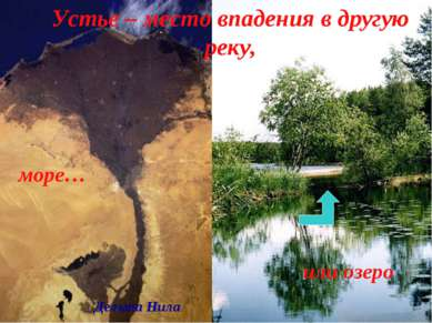 Устье – место впадения в другую реку, море… или озеро Дельта Нила
