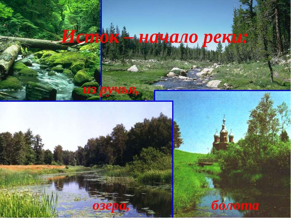Исток – начало реки: из ручья, озера, болота