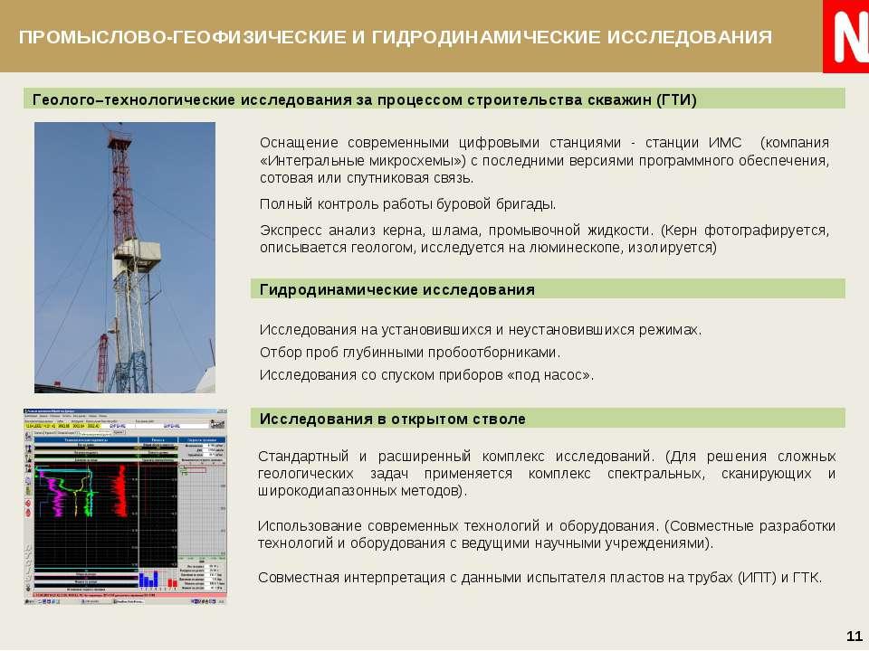 Геолого–технологические исследования за процессом строительства скважин (ГТИ)...