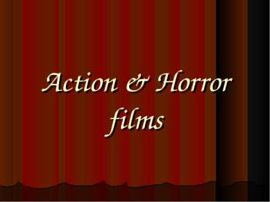 Action & Horror films