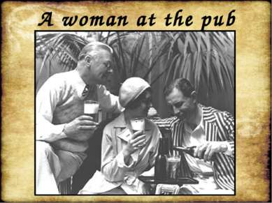 A woman at the pub