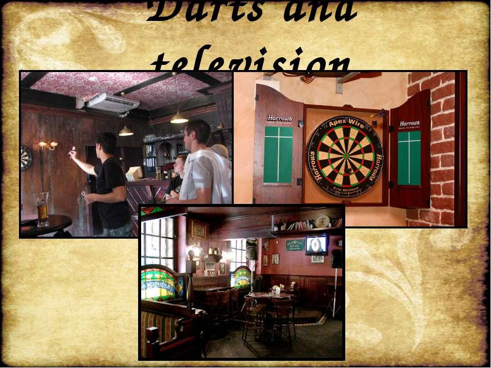Darts and television