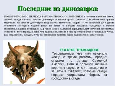 Последние из динозавров КОНЕЦ МЕЛОВОГО ПЕРИОДА БЫЛ КРИТИЧЕСКИМ ВРЕМЕНЕМ в ист...