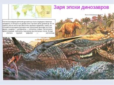 Растительноядная рептилия десматозух была защищена тяжелым панцирем, из котор...