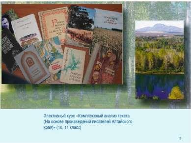 Элективный курс «Комплексный анализ текста (На основе произведений писателей ...