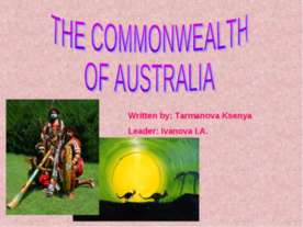 The commonwealth of the Australia