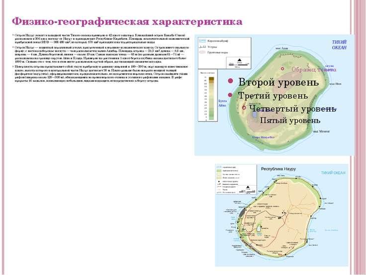 Физико-географическая характеристика Остров Науру лежит в западной части Тихо...