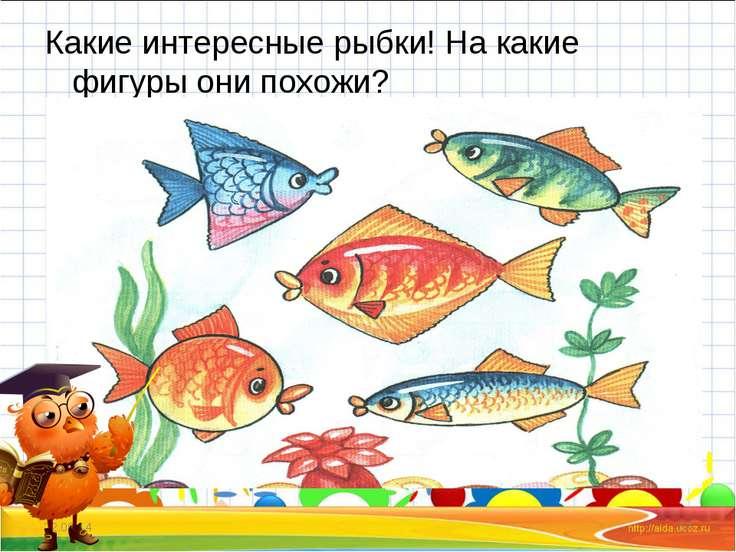 Какие интересные рыбки! На какие фигуры они похожи? * *