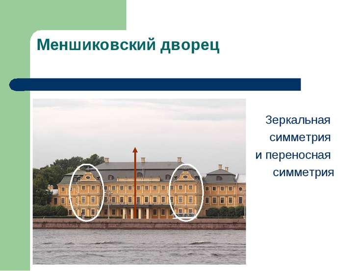 Меншиковский дворец Зеркальная симметрия и переносная симметрия