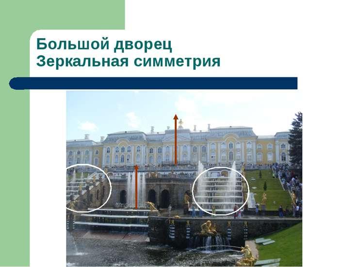 Большой дворец Зеркальная симметрия