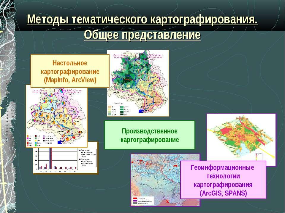 Методы тематического картографирования. Общее представление Производственное ...