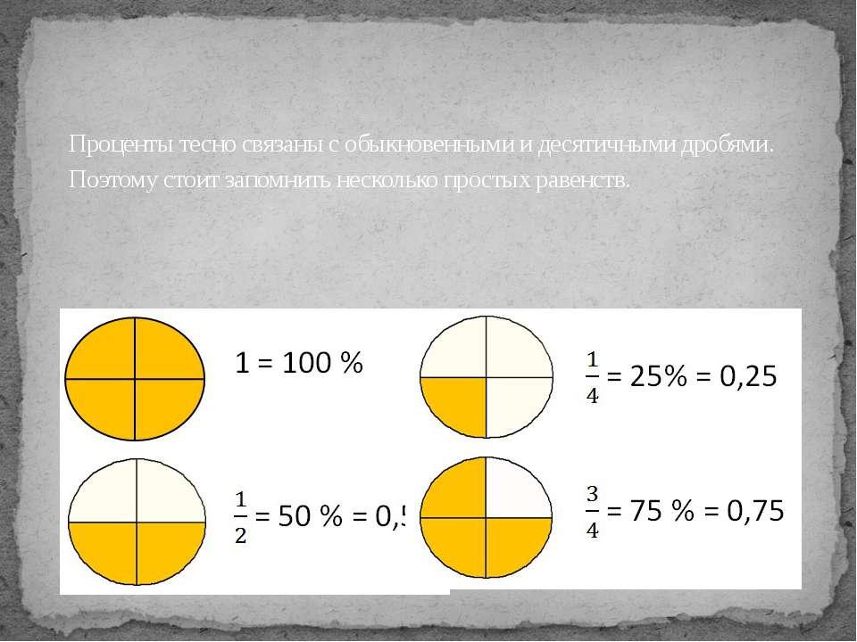 Проценты тесно связаны с обыкновенными и десятичными дробями. Поэтому стоит з...