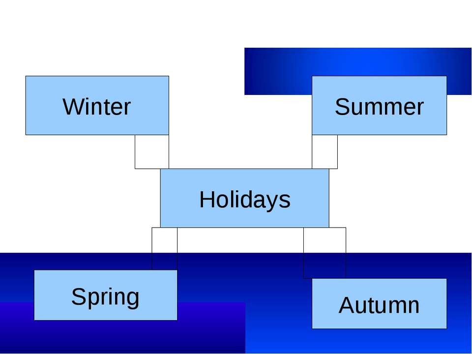 Holidays Winter Spring Summer Autumn