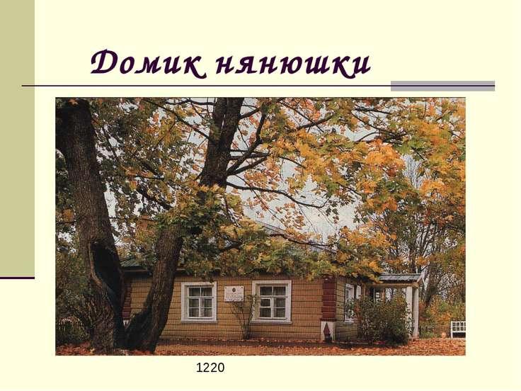 Домик нянюшки 1220