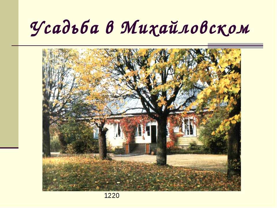 Усадьба в Михайловском 1220
