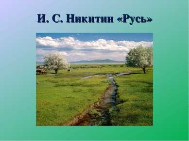 И. С. Никитин «Русь»