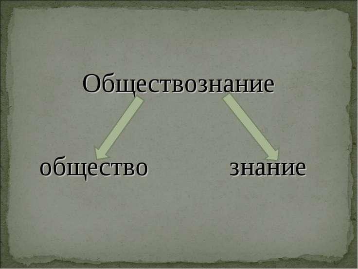 Обществознание общество знание