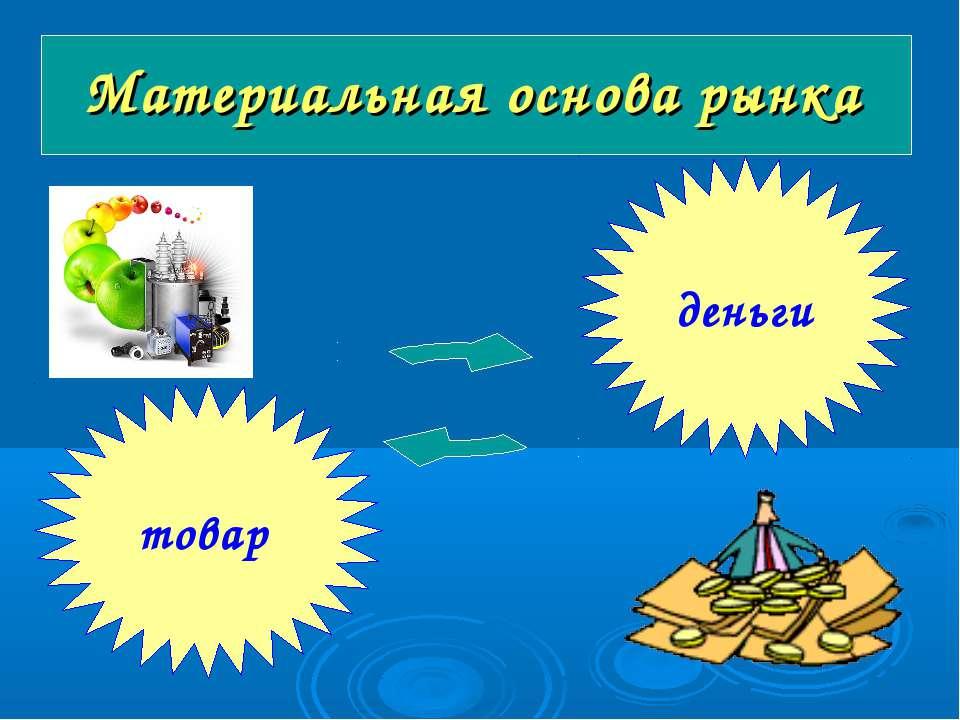 Материальная основа рынка товар деньги