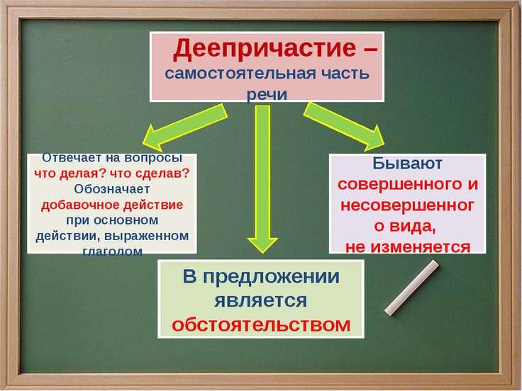 Деепричастие – самостоятельная часть речи Отвечает на вопросы что делая? что ...