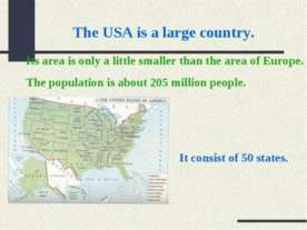 The USA is a large country
