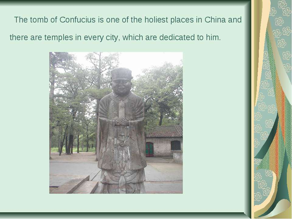 The tomb of Confucius is one of the holiest places in China and there are te...
