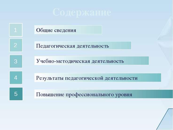 Общие сведения 1 Педагогическая деятельность Учебно-методическая деятельность...