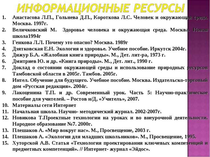 Анастасова Л.П., Гольнева Д.П., Короткова Л.С. Человек и окружающая среда. Мо...