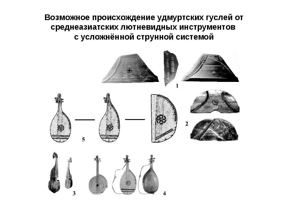 Возможное происхождение удмуртских гуслей от среднеазиатских лютневидных инст...