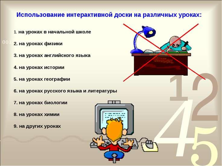 на уроках в начальной школе на уроках физики на уроках английского языка на у...
