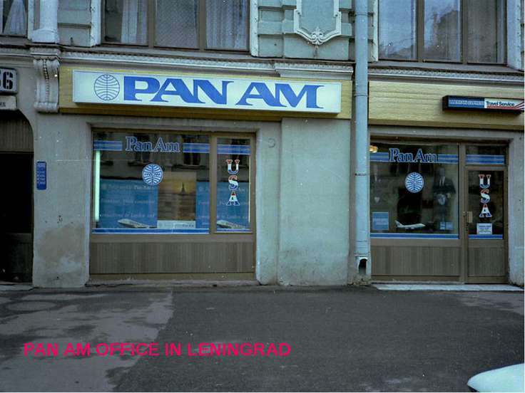 PAN AM OFFICE IN LENINGRAD