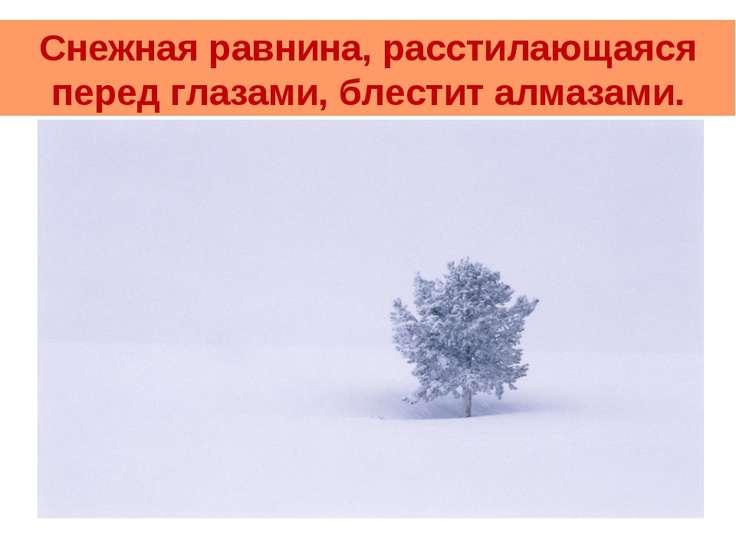 Снежная равнина, расстилающаяся перед глазами, блестит алмазами.