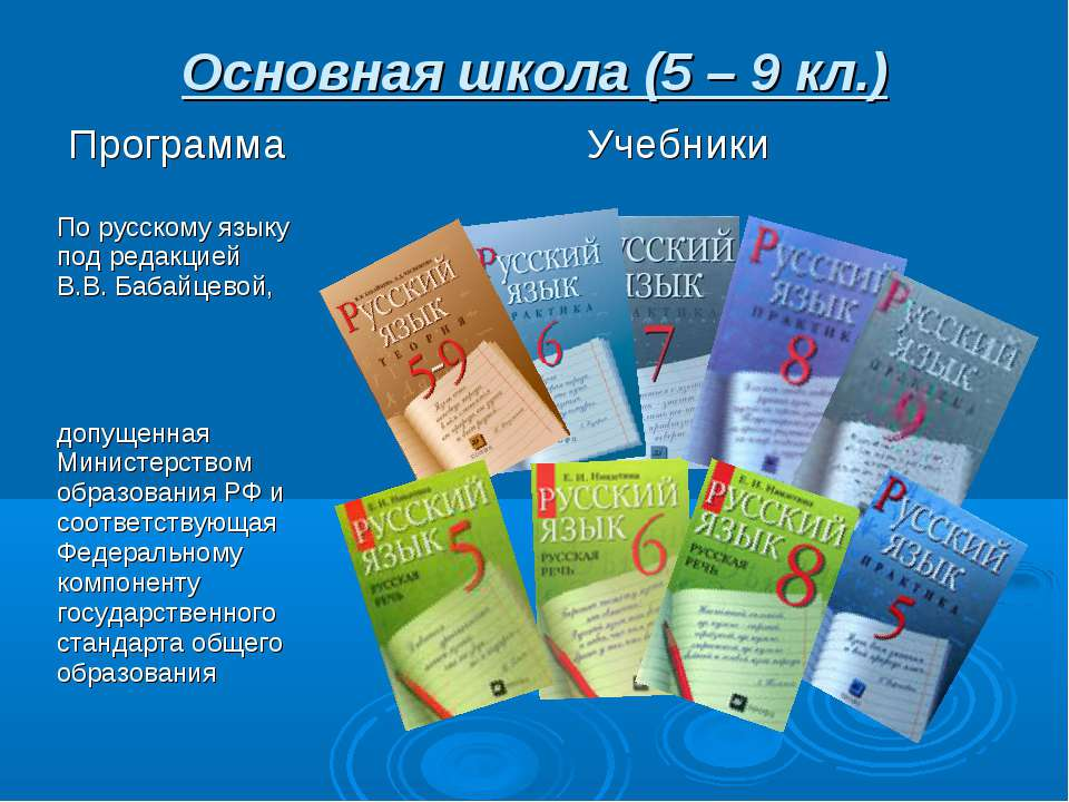 Основная школа (5 – 9 кл.)