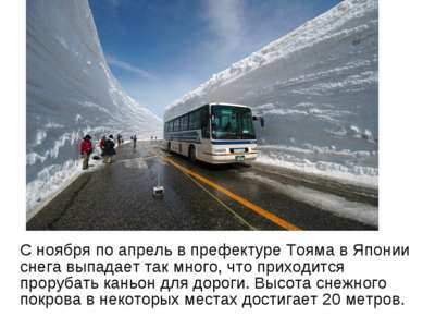 С ноября по апрель в префектуре Тояма в Японии снега выпадает так много, что ...