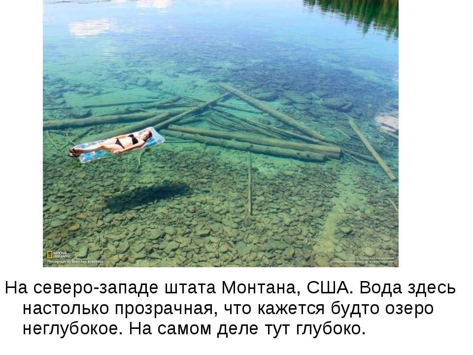 На северо-западе штата Монтана, США. Вода здесь настолько прозрачная, что каж...
