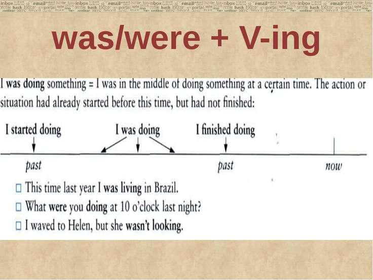 was/were + V-ing