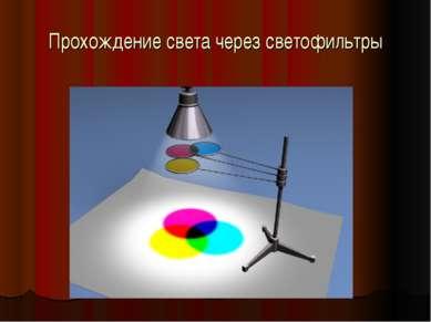 Прохождение света через светофильтры