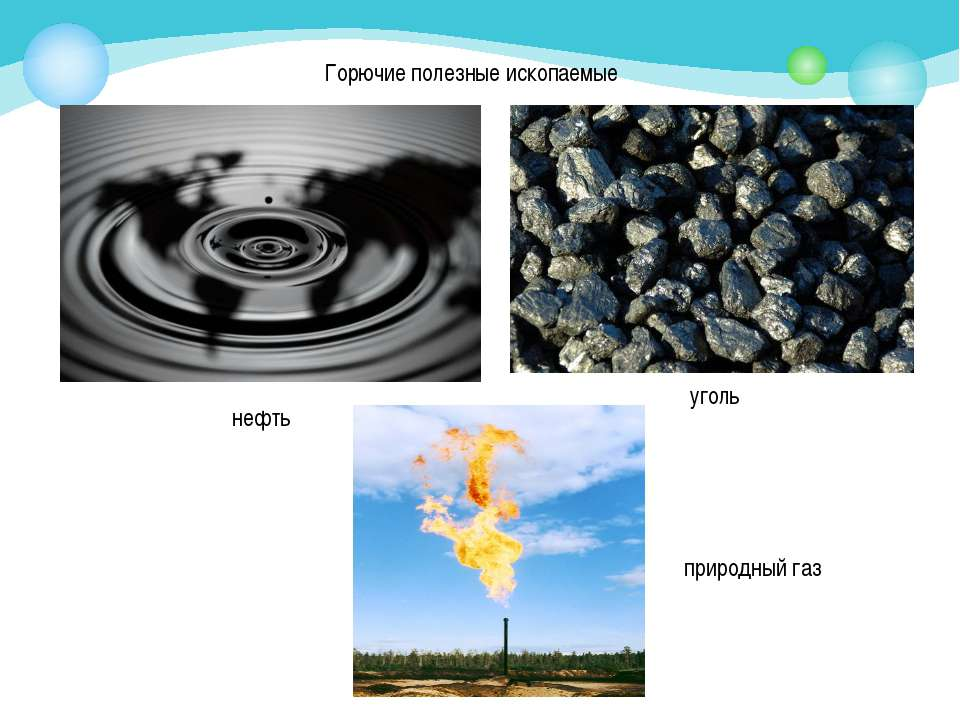 Горючие полезные ископаемые нефть уголь природный газ