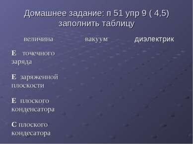 Домашнее задание: п 51 упр 9 ( 4,5) заполнить таблицу