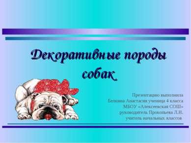 Презентацию выполнила Белкина Анастасия ученица 4 класса МБОУ «Алексеевская С...