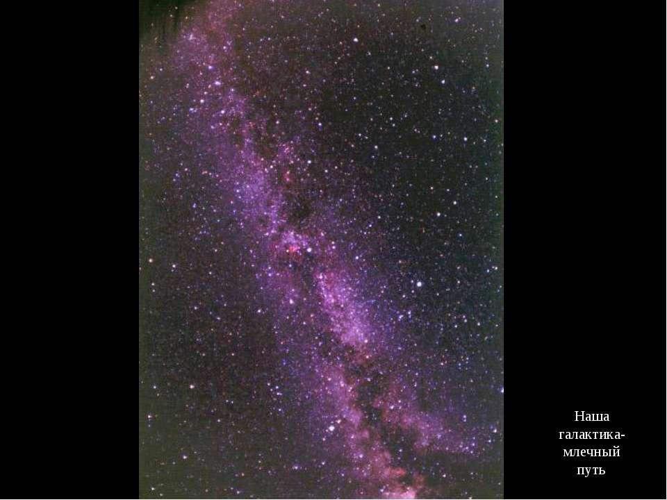 Наша галактика- млечный путь