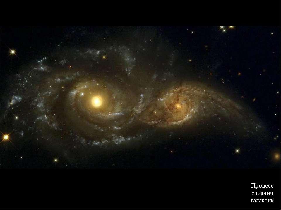 Процесс слияния галактик