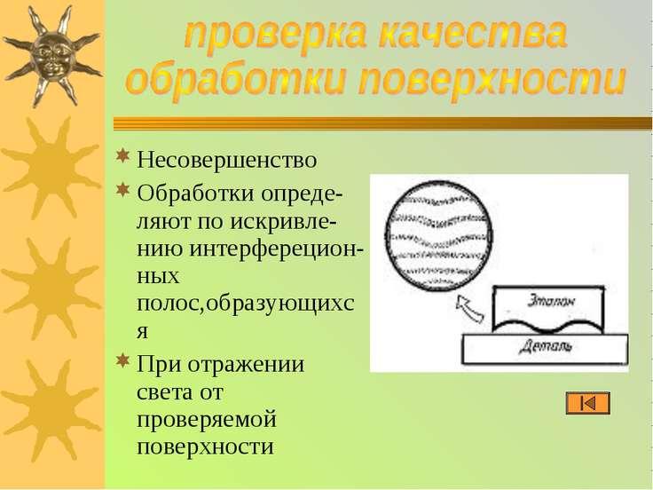 Несовершенство Обработки опреде-ляют по искривле-нию интерферецион-ных полос,...