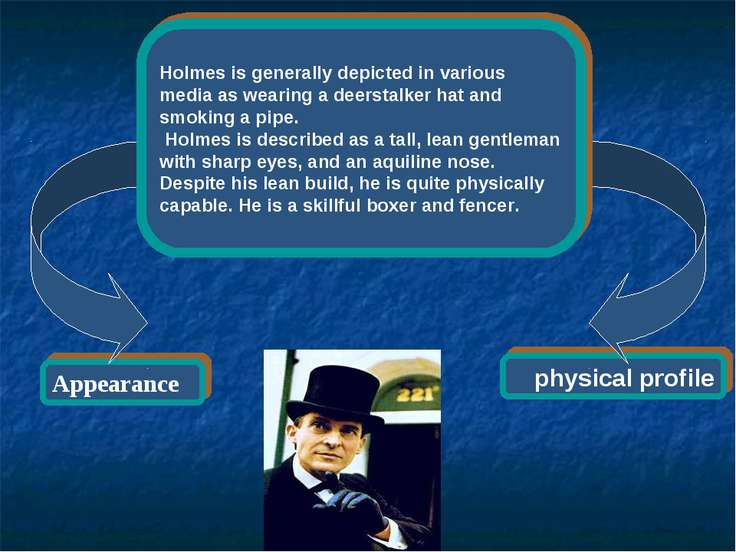 physical profile Appearance Holmes is generally depicted in various media as ...