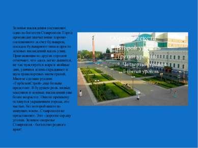 Зеленые насаждения составляют одно из богатств Ставрополя. Город производит в...