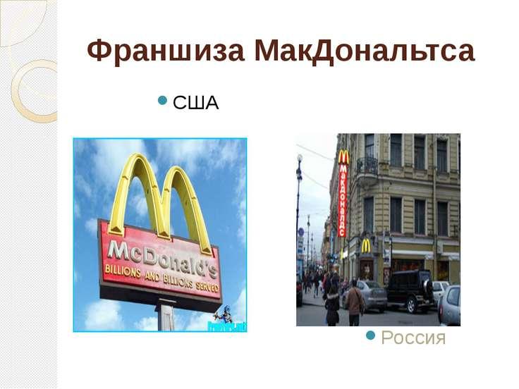 Франшиза МакДональтса США Россия